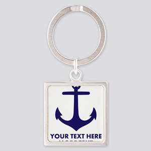 Nautical boat anchor Keychains