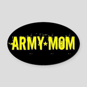 U.S. Army: Mom (Black & Gold) Oval Car Magnet