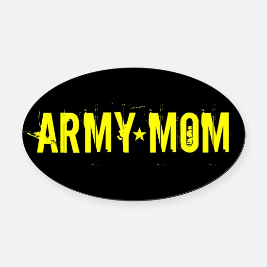U.S. Army: Mom (Black & Gold) Oval Car Magnet