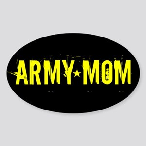 U.S. Army: Mom (Black & Gold) Sticker (Oval)