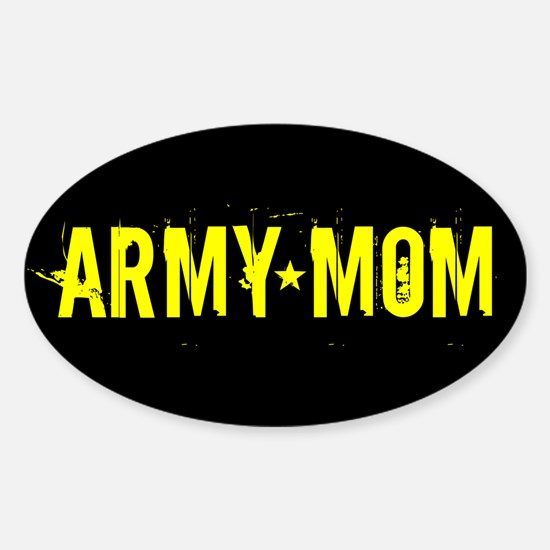 U.S. Army: Mom (Black & Gold) Sticker (Oval)