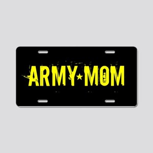 U.S. Army: Mom (Black & Gol Aluminum License Plate