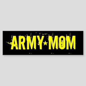 U.S. Army: Mom (Black & Gold) Sticker (Bumper)