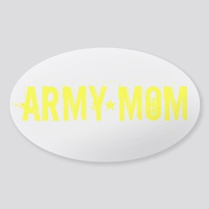Army Mom: Gold Text Sticker (Oval)