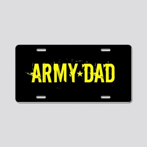 U.S. Army: Dad (Black & Gol Aluminum License Plate