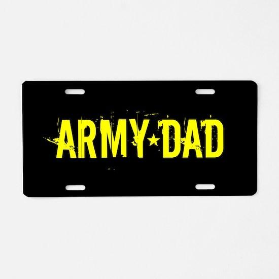 U.S. Army: Dad (Black & Gol Aluminum License Plate