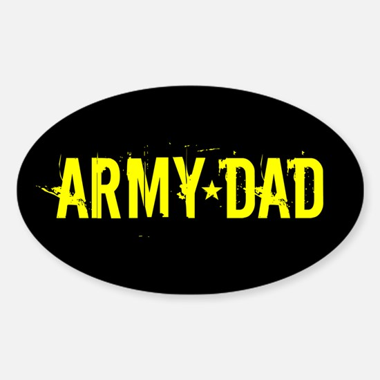 U.S. Army: Dad (Black & Gold) Sticker (Oval)