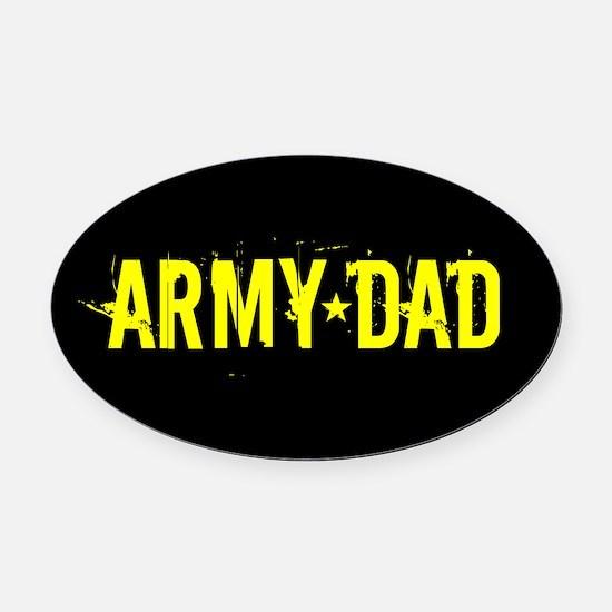 U.S. Army: Dad (Black & Gold) Oval Car Magnet