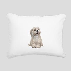 Lhasa Apso (R) Rectangular Canvas Pillow