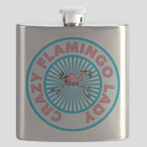 Crazy Flamingo Lady Flask