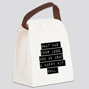 What Has Four Legs And An Arm Canvas Lunch Bag