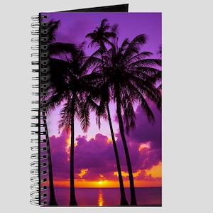 Purple Tropical Sunset 2 Journal