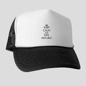 Keep Calm and Kiss Arturo Trucker Hat