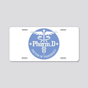 Caduceus Pharm.D Aluminum License Plate