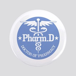 "Caduceus Pharm.D 3.5"" Button"