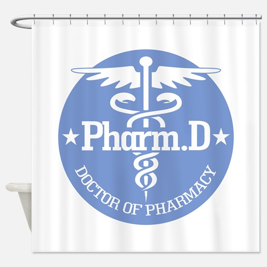 Caduceus Pharm.D Shower Curtain