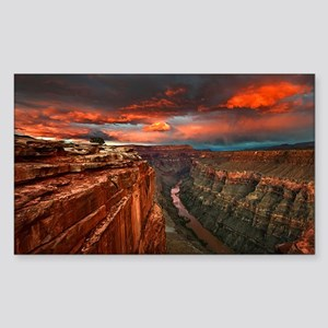 Grand Canyon Sunset Sticker (Rectangle)