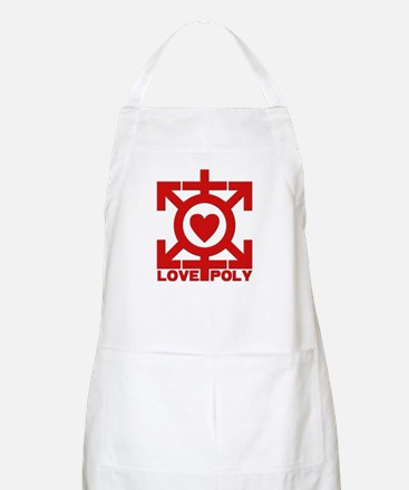 Love Poly Red BBQ Apron