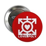 """Love Poly Red 2.25"""" Button (100 pack)"""