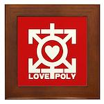 Love Poly Red Framed Tile