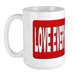Love Poly Red Large Mug