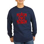 Love Poly Red Long Sleeve Dark T-Shirt