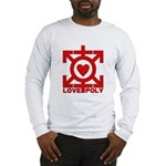 Love Poly Red Long Sleeve T-Shirt