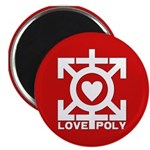 """Love Poly Red 2.25"""" Magnet (10 pack)"""