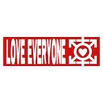 Love Poly Red Bumper Sticker