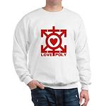 Love Poly Red Sweatshirt