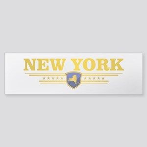 New York Gadsden Flag Bumper Sticker