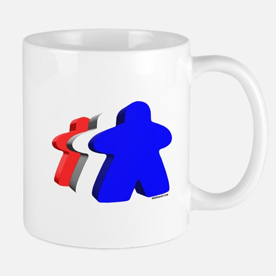 Red White and Blue Meeples Mugs