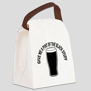 Black Stuff Canvas Lunch Bag
