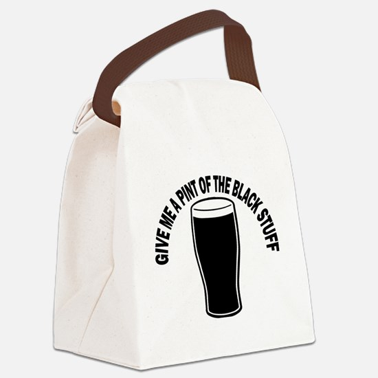 Black Stuff Canvas Lunch Bag