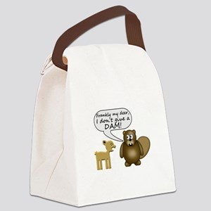 Beaver Don't Give A Dam Canvas Lunch Bag