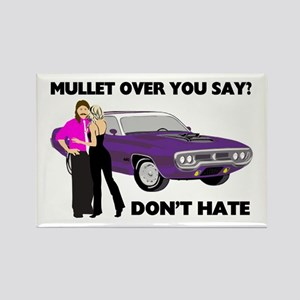 Mullet Over Think Again Rectangle Magnet