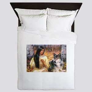 Grey Wolf Queen Duvet