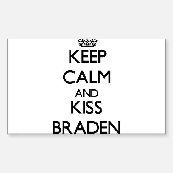 Keep Calm and Kiss Braden Decal