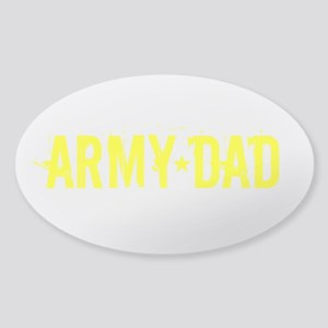 Army Dad: Gold Text Sticker