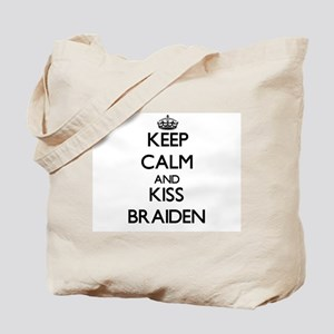 Keep Calm and Kiss Braiden Tote Bag