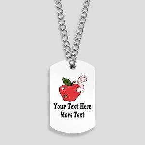 Red Apple Teacher Dog Tags