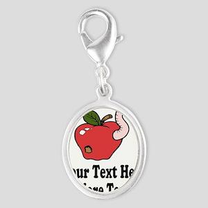 Red Apple Teacher Charms