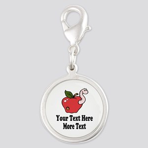 Red Apple Teacher Charms