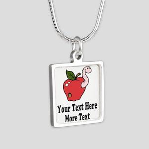 Red Apple Teacher Necklaces