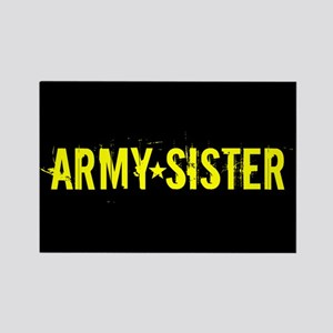 U.S. Army: Sister (Black & Gold) Rectangle Magnet