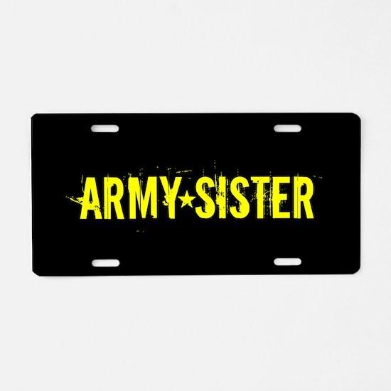 U.S. Army: Sister (Black & Aluminum License Plate