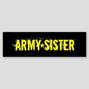 U.S. Army: Sister (Black & Gold) Sticker (Bumper)