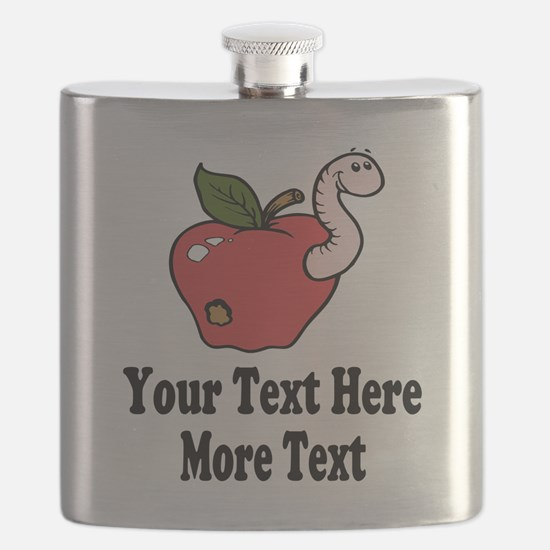 Red Apple Teacher Flask