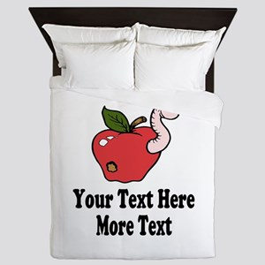Red Apple Teacher Queen Duvet