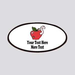 Red Apple Teacher Patches